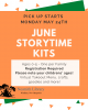 pick up starts monday may 24 june storytime kit registration required all ages