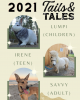 2021 tails and tales summer reading mascots