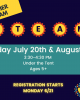 STEAM tuesday july 20 and august 3