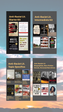 anti racist reading lists book covers
