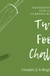 Tween Foodie Challenge Wednesday January 20 curbside pickup registration required grades 5-8