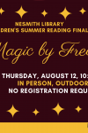 children's summer reading finale magic by fred