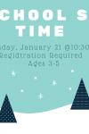 preschool storytime Thursday January 21 10:30 AM